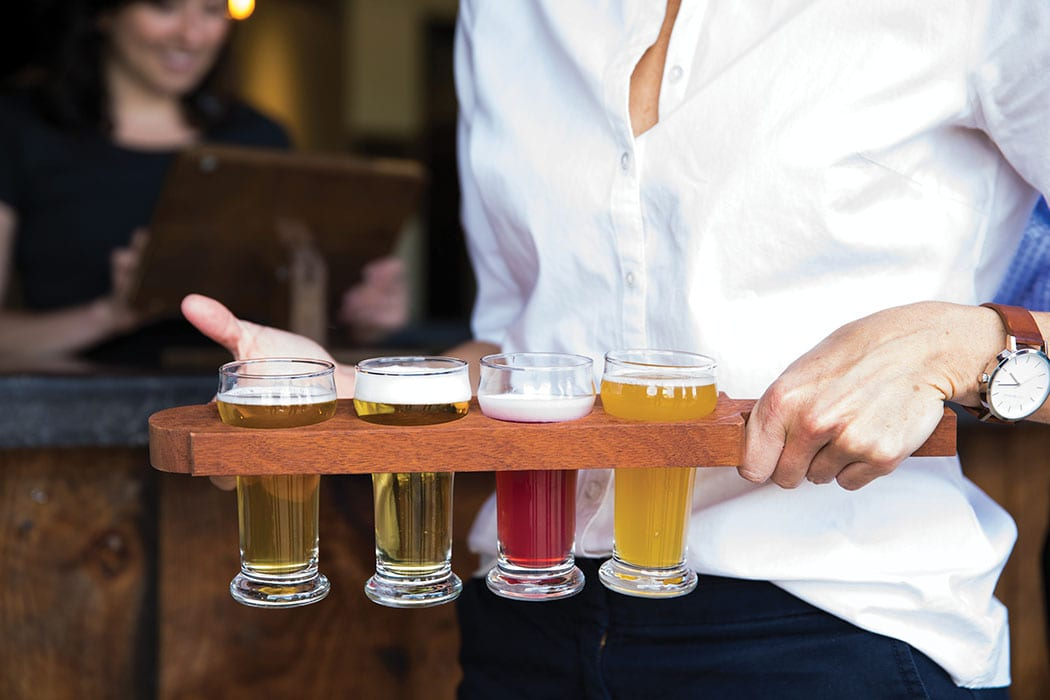 A beer flight at Hardywood Park Craft Brewery. | Photo by Kate Magee.
