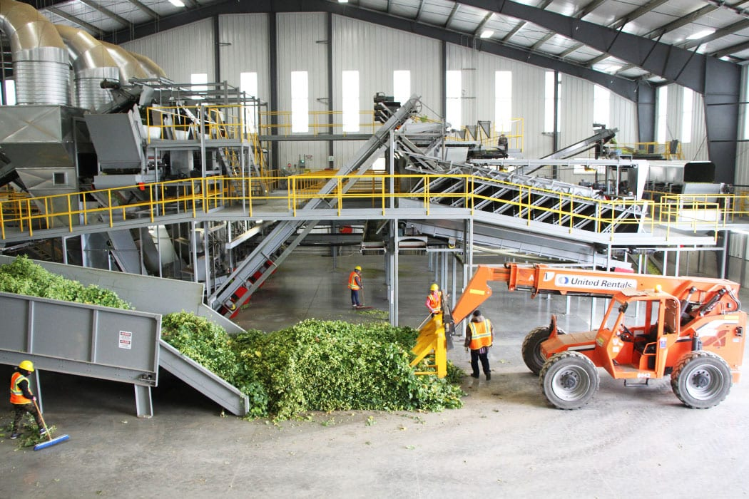 Many of the processing facilities in Yakima are behemoth mechanic systems of conveyor belts, shredders and other tools used to remove hop cones from the bines.