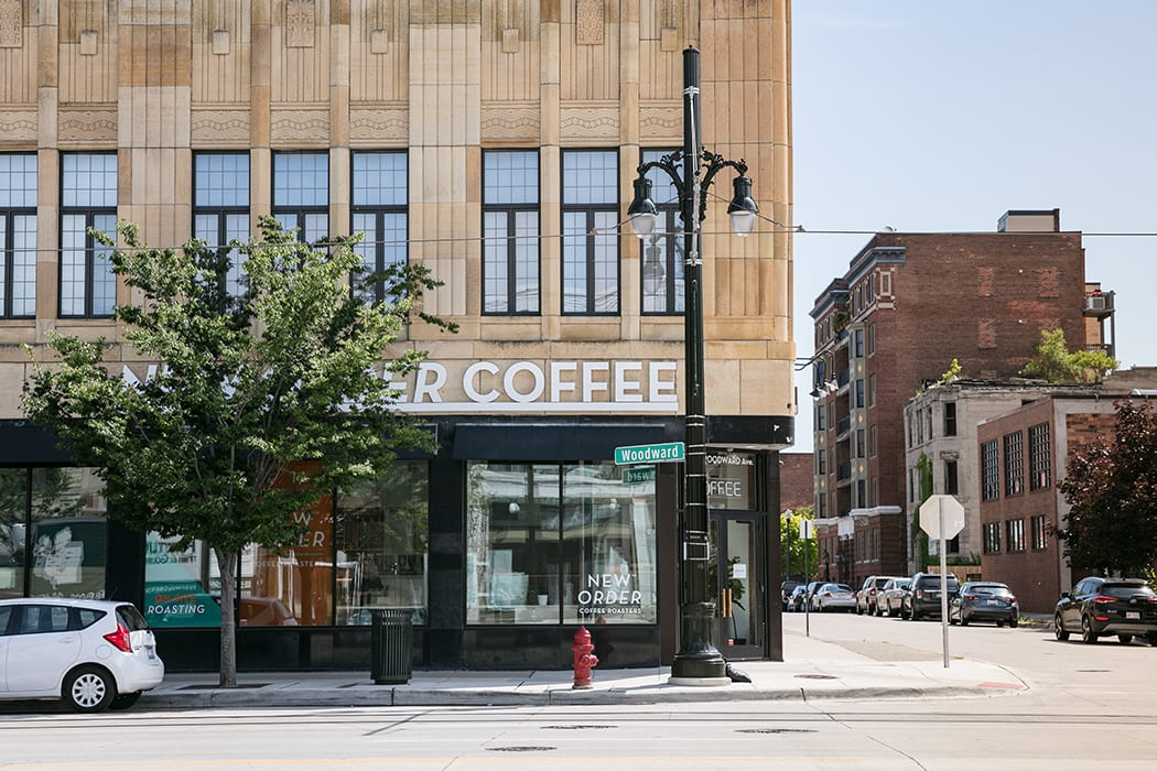 Detroit's newest coffee shop, New Order Coffee Roasters, is located in the Midtown neighborhood.