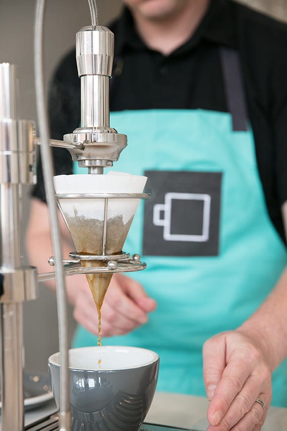 Modbar's pour over system does much of the heavy lifting on the drip side of service.