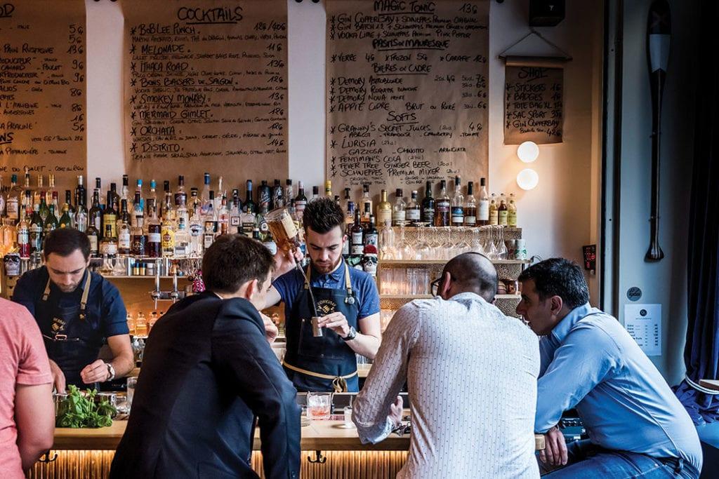 CopperBay bar in Paris.