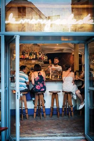 Le Mary Celeste's bar in Paris.