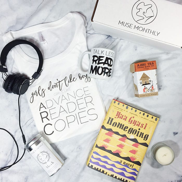 Muse Monthly Tea+Books Gift Box, $32