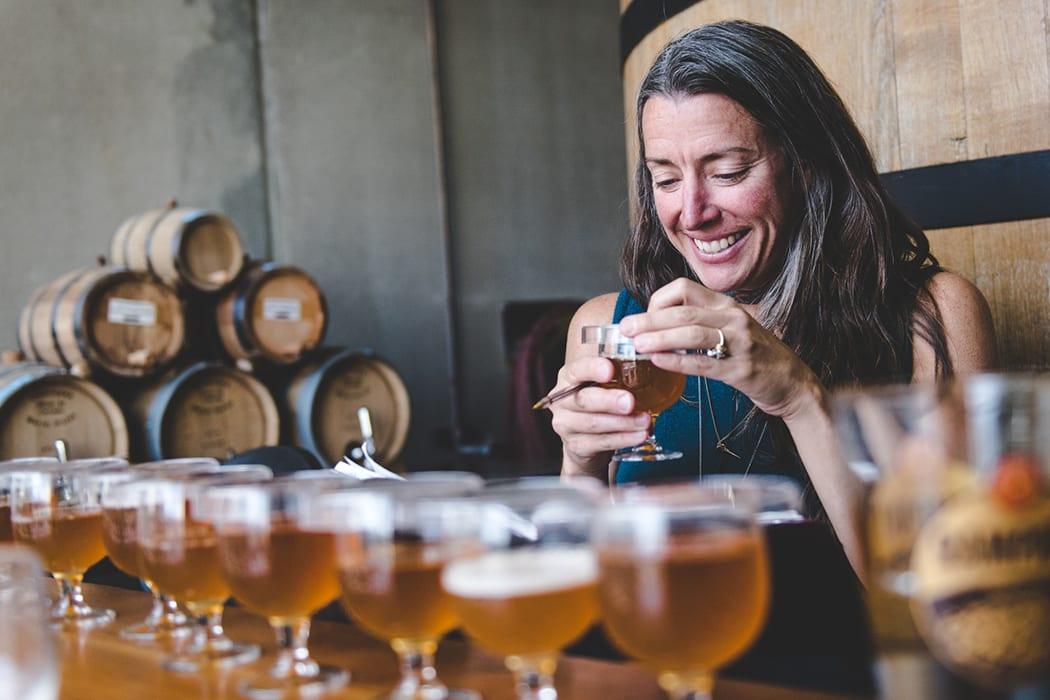 lauren with sour beers-crtsy-new belgium brewing company