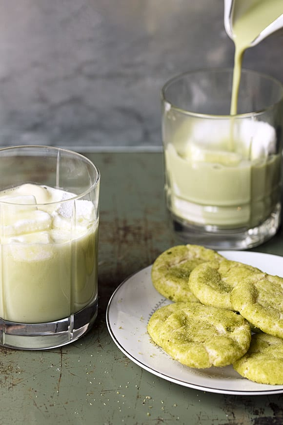 Matcha Mint Hot Chocolate.   Photo by Lottie Hedley.