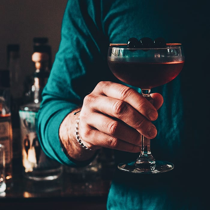 Charleston couple Will + Kaitlyn are a great example of the vibrant cocktail culture blossoming on Instagram these days. | Follow them at @kaleandcocktail.