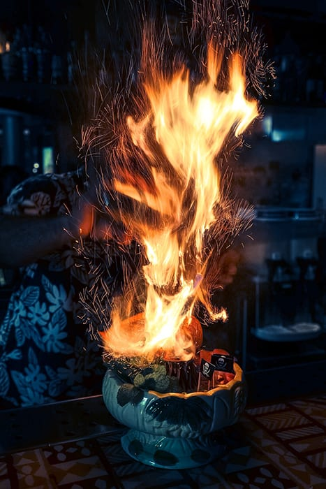 Justin Alford is a pro at capturing the best side of cocktails in their natural environments, like this fiery tiki gem from @themynabirdtikibar. | Follow him at @thewhiskeymcgee.