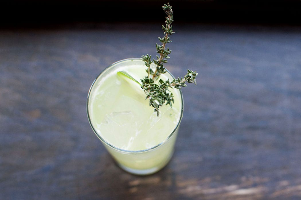 Cucumber Thyme Fizz. | Photo courtesy of AvroKO.