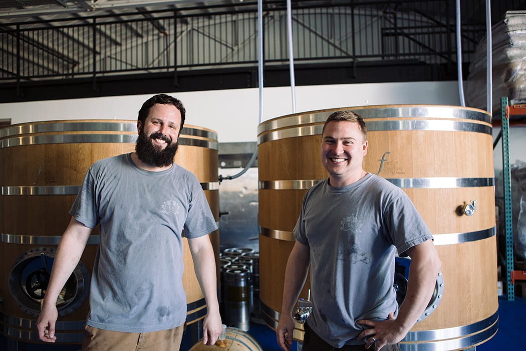 Co-founder Patrick Woodson (right) is the head brewer at Bhavana, where he makes subtle beers with co-head brewer Brent Steffen (left).