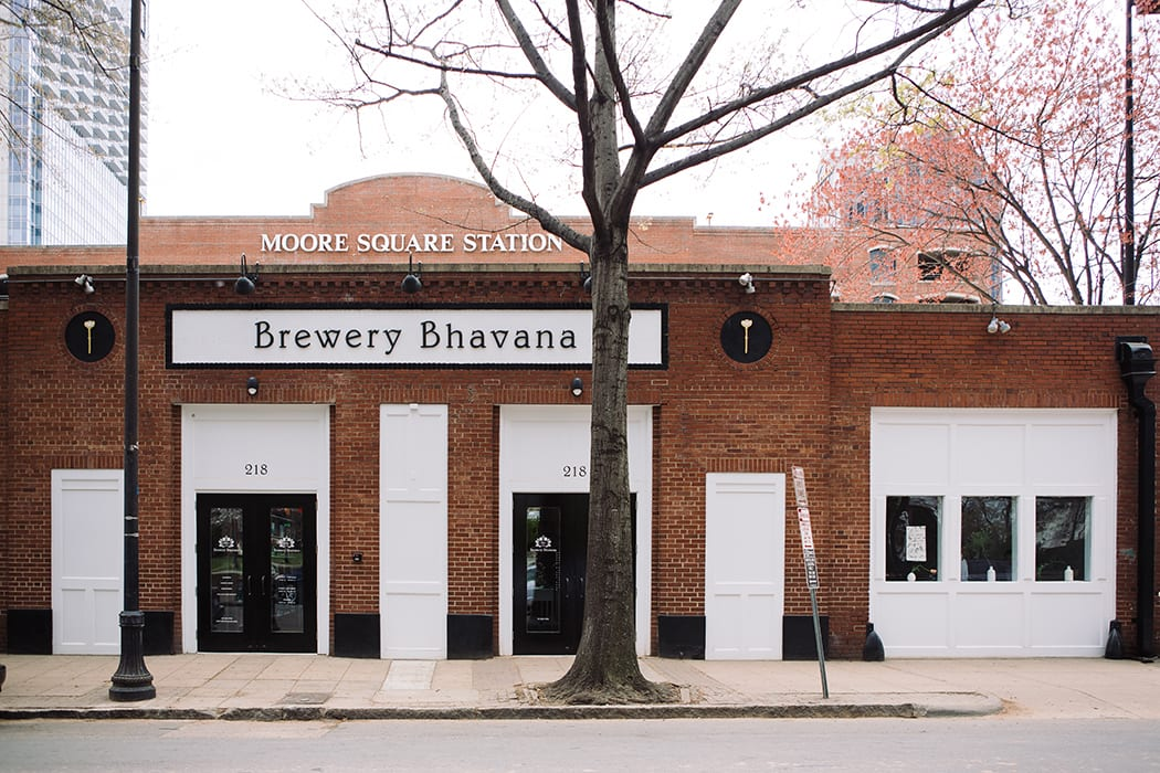 Brewery Bhavana is located in the historic Moore Square Park in downtown Raleigh, North Carolina.