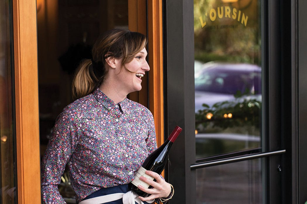 L'Oursin wine director Kathryn Olson. | Photo by Charity Burggraaf.