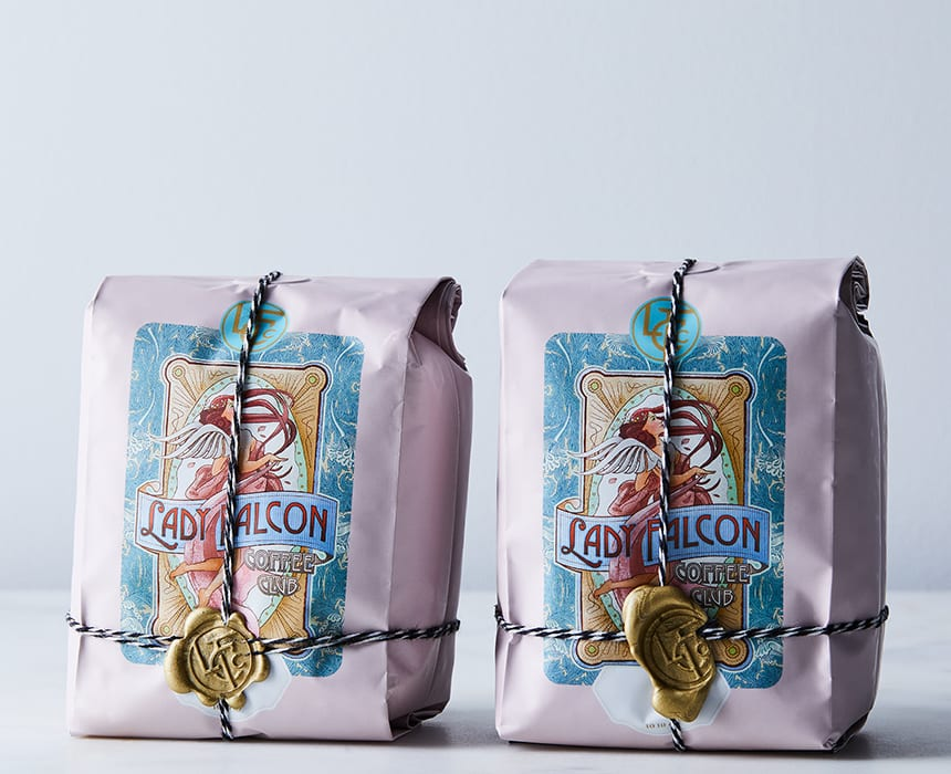 Lady Falcon Coffee Club Signature Bean Blends.  | food52.com, $32