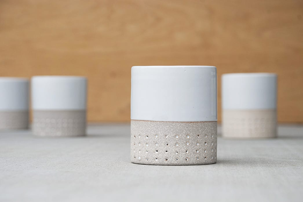 Pawena Studio Raw Dot White Top STD Cup. | pawenastudio.com, $40