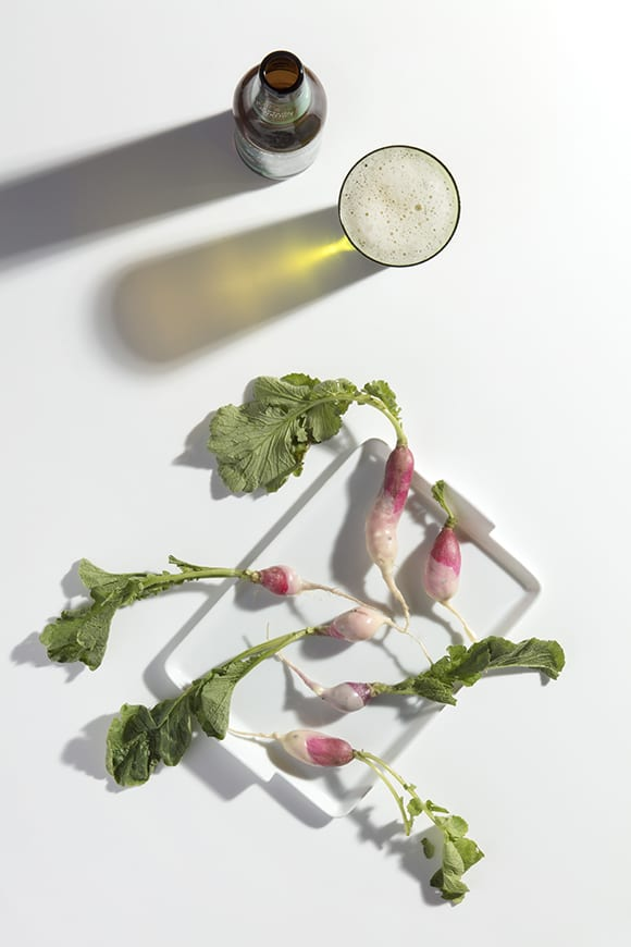 Radishes With Hop Butter