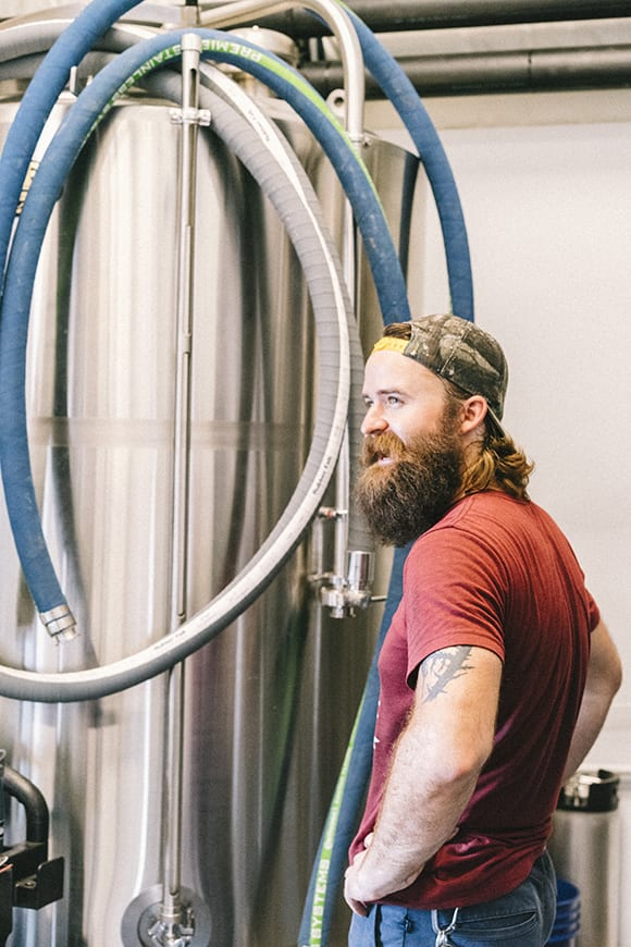 Head brewer Drew Durish cut his chops at long-time Austin favorite Live Oak Brewing before joining the Brewer's Table team.