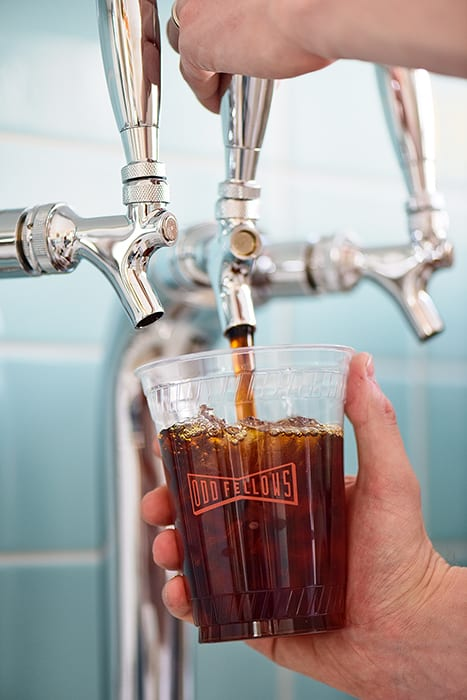 Cold-brew on tap.