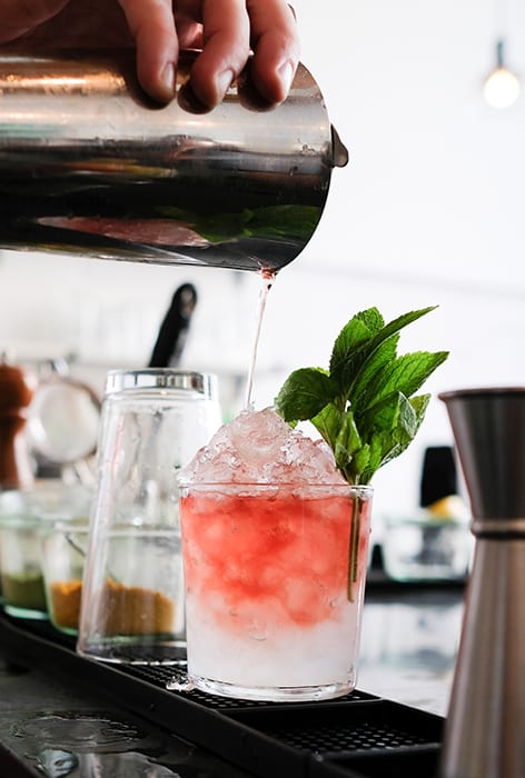 Rhubarb Rye Julep. | Photo by Pete Pabon.