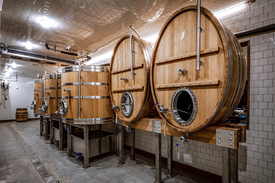 All the house beers are fermented in large, custom foeders (oak vats). | Photo by Robert J. Lerma.