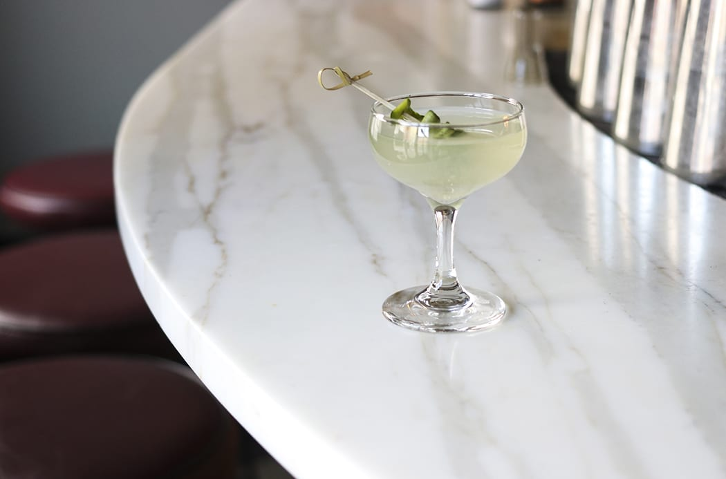 Cucumber Sake Martini. | Photo by Molly Tavoletti.