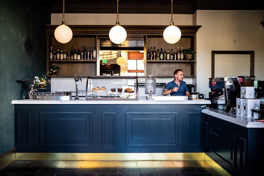 The Death & Co. team also manage the other food and drink spaces in the hotel, like the DC/AM cafe, which offers a selection of coffee, tea, juices and breakfast/lunch foods.
