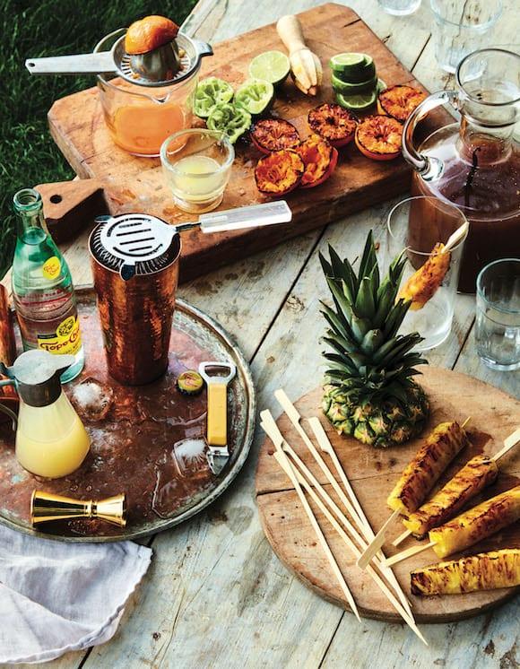 grilling for cocktails