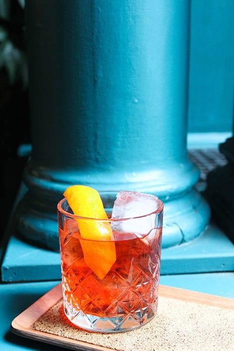 Rum Tea Negroni