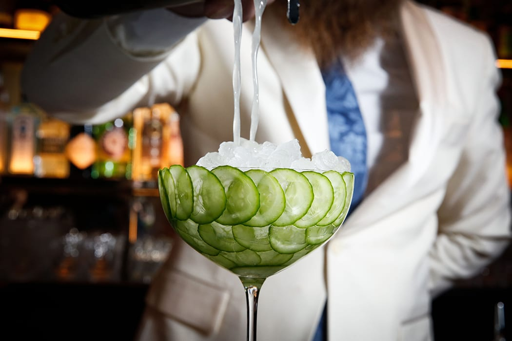 The Pool Lounge Cucumber Cocktail