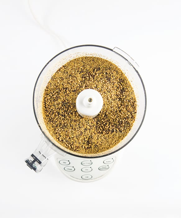 Step 1: In a food processor or blender, pulse the mustard seeds until three-quarters of them are broken up, or at least half have turned into powder. Adjust depending on how smooth or coarse you want your mustard to be.
