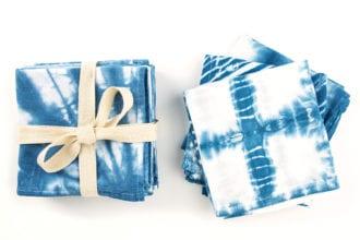 DIY Shibori Tea Towels