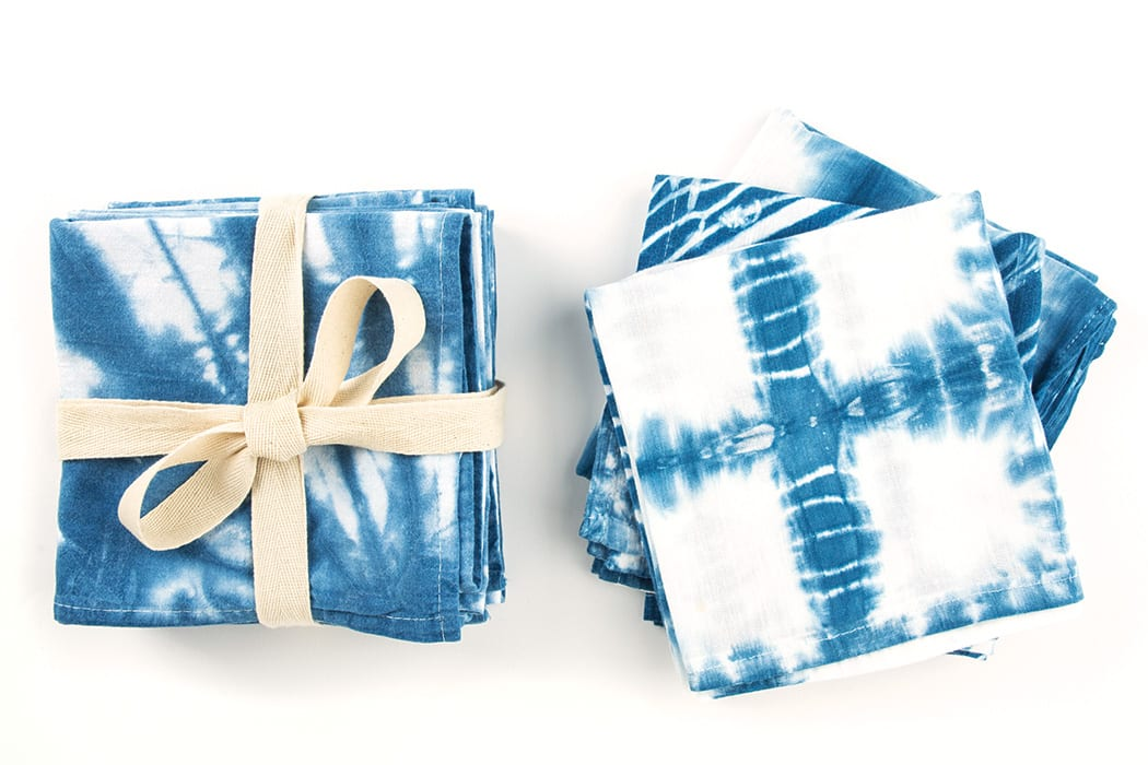 Tie dye finds its artsy, sophisticated side in the ancient Japanese dyeing technique known as shibori.