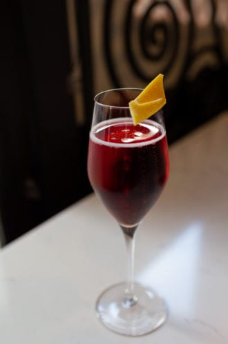 Lambrusco cocktail