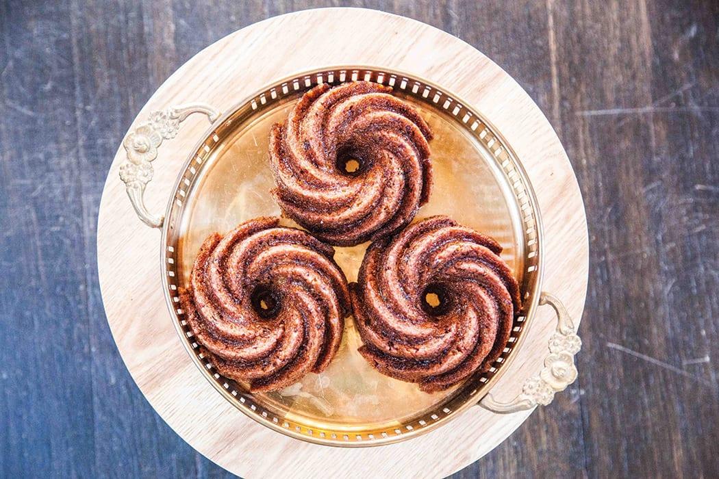 Persimmon Rum Pudding Cake