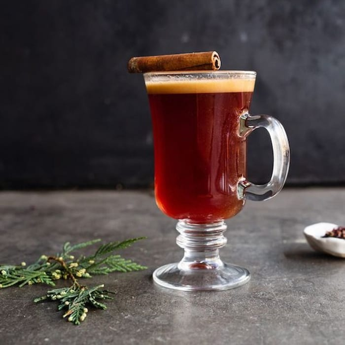 For this hot buttered rum, Smith Teamaker  combines black tea and spices with butter, brown sugar and dark rum. | Follow Smith at @smithteamaker.
