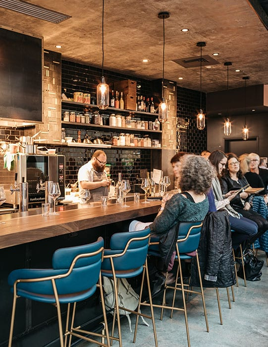 The bar is located in the Fenway neighborhood, but the atmosphere inside is a far cry from the neighboring stores and cafes.