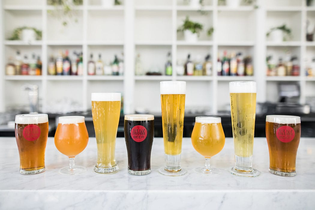 Made with classic German techniques, the beers at the brewpub feature creative ingredients like jasmine tea, puffed rice and szechuan peppercorn.
