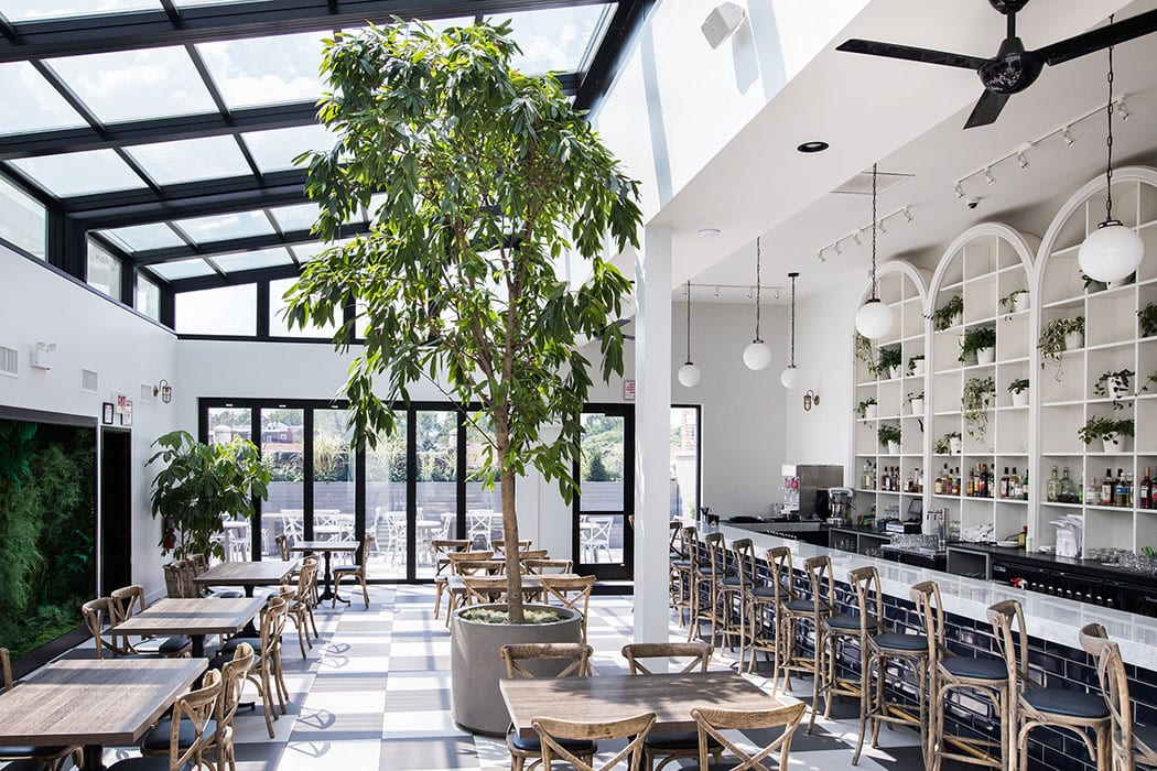 The top floor of Bixi is light, bright and airy.
