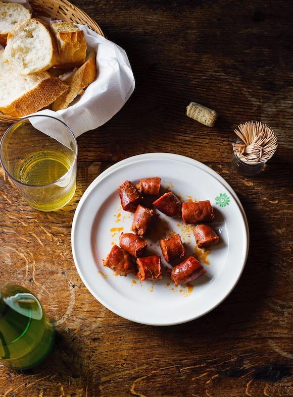 cider-braised chorizo