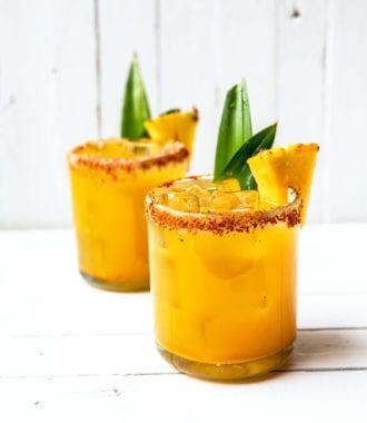 pineapple-turmeric margaritas