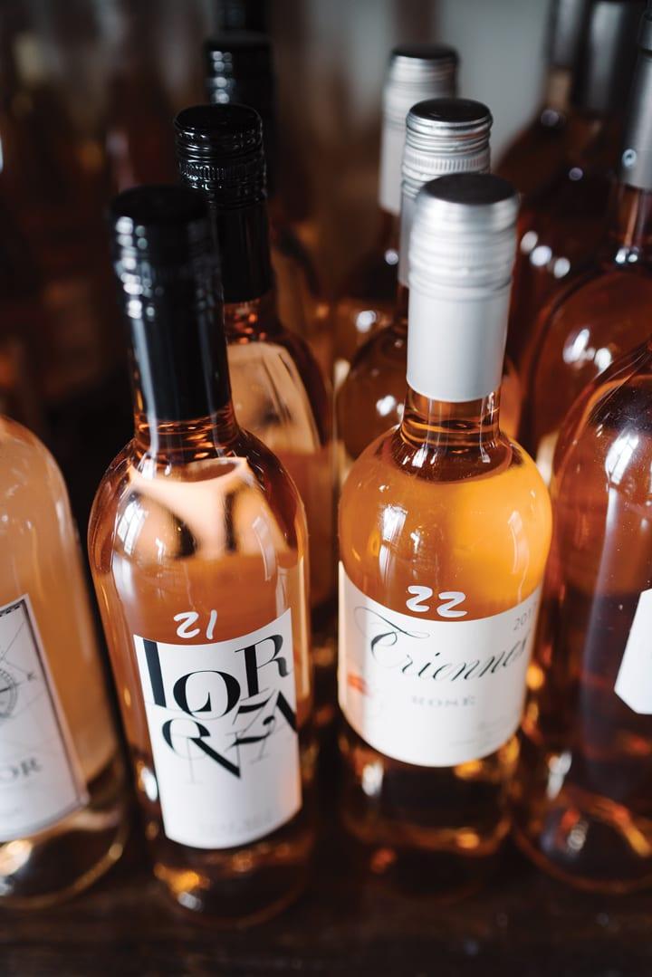 garft-wine-rose bottles-crdt olivia rae james