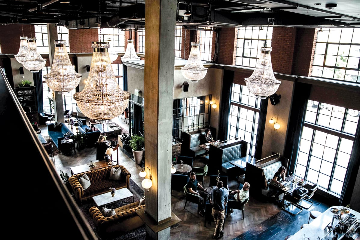 Death & Co Denver's main bar is located in the lobby at the Ramble Hotel. | Photo by Elliott Clark.