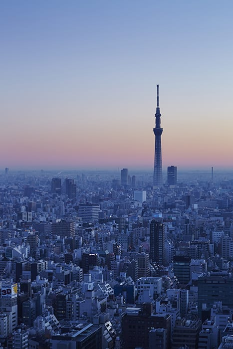 Aman Tokyo's views extend to include Mount Fuji, The Imperial Gardens and the Tokyo Skytree. | Photo courtesy of Aman.