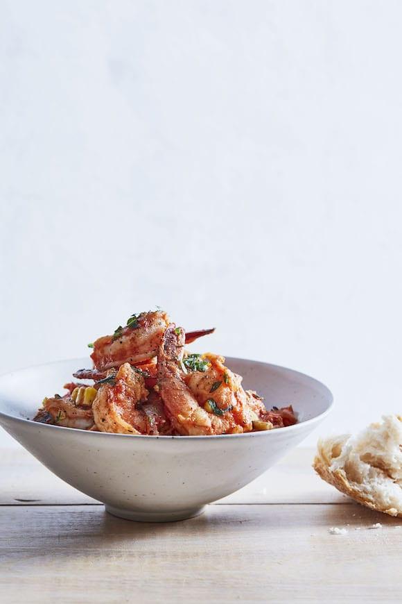 Shrimp and Tomato Fra Diavolo.   Photo by Linda Pugliese.