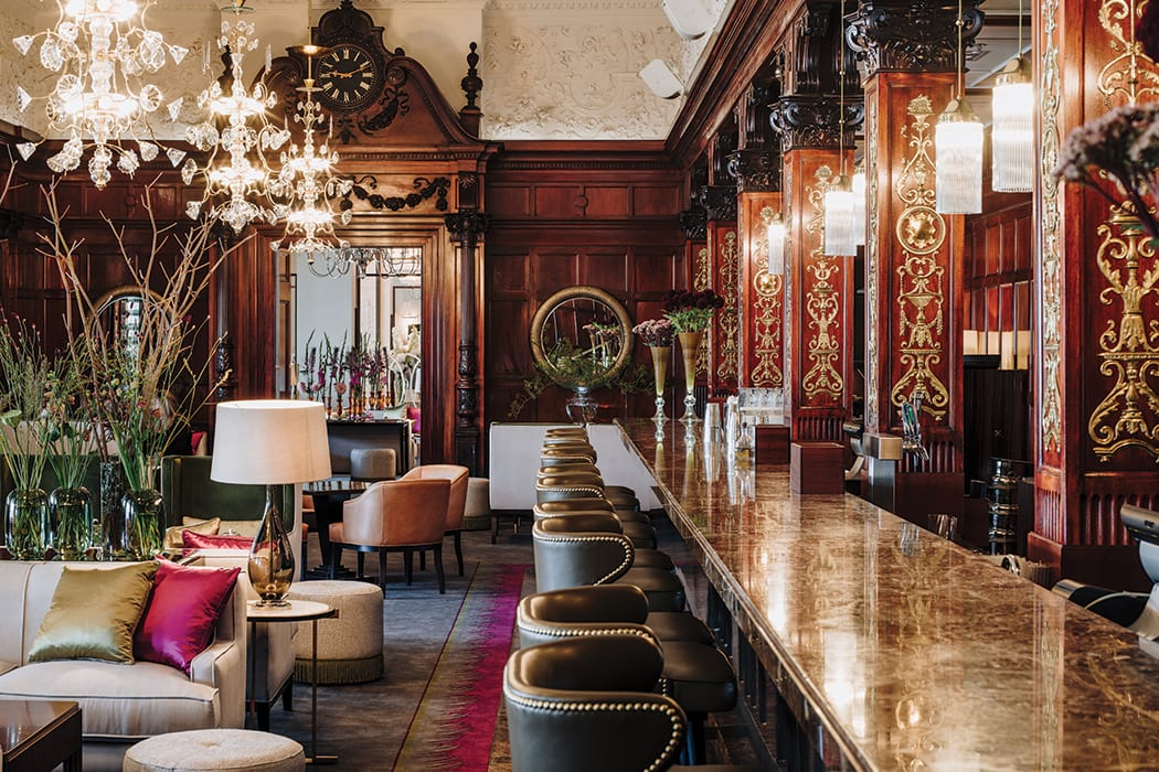 The Cadier Bar at theGrand Hôtel inStockholm is named in honor of the hotel's founder, French chef Régis Cadier. | Photo by David Thunander.