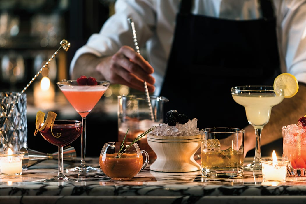 Bartenders aim for the stars at Fifty Mils in Mexico City, where guests can expect the unexpected in cocktails. | Photo courtesy of the Four Seasons Hotel in Mexico City.