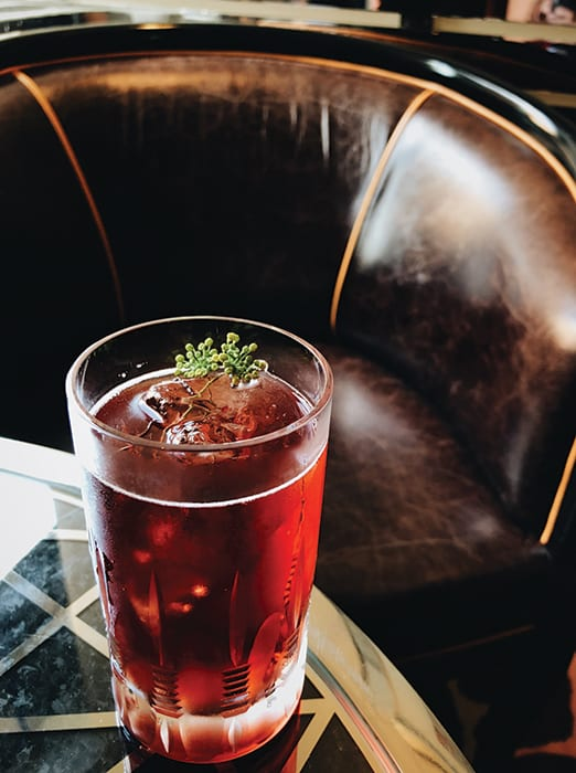 Contemporary cocktails like the White Nights share menu space with classics like the Hanky Panky and White Lady at the American Bar at the Savoy Hotel in London. | Photo by Emma Janzen.