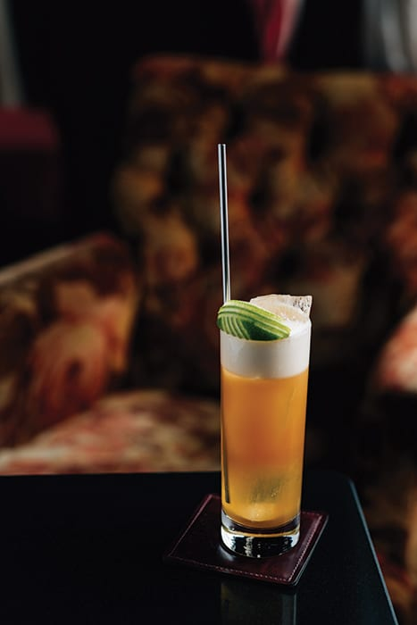 The Dark 'N Stormy at the Merchant Hotel uses fresh-extracted ginger juice and falernum to brighten up the classic.   Photo by Studio Kin.