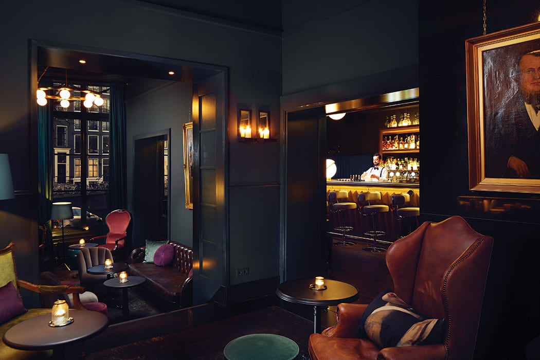 Pultizer's Bar at the Hotel Pulitzer in Amsterdam. | Photo by Sander Baks.