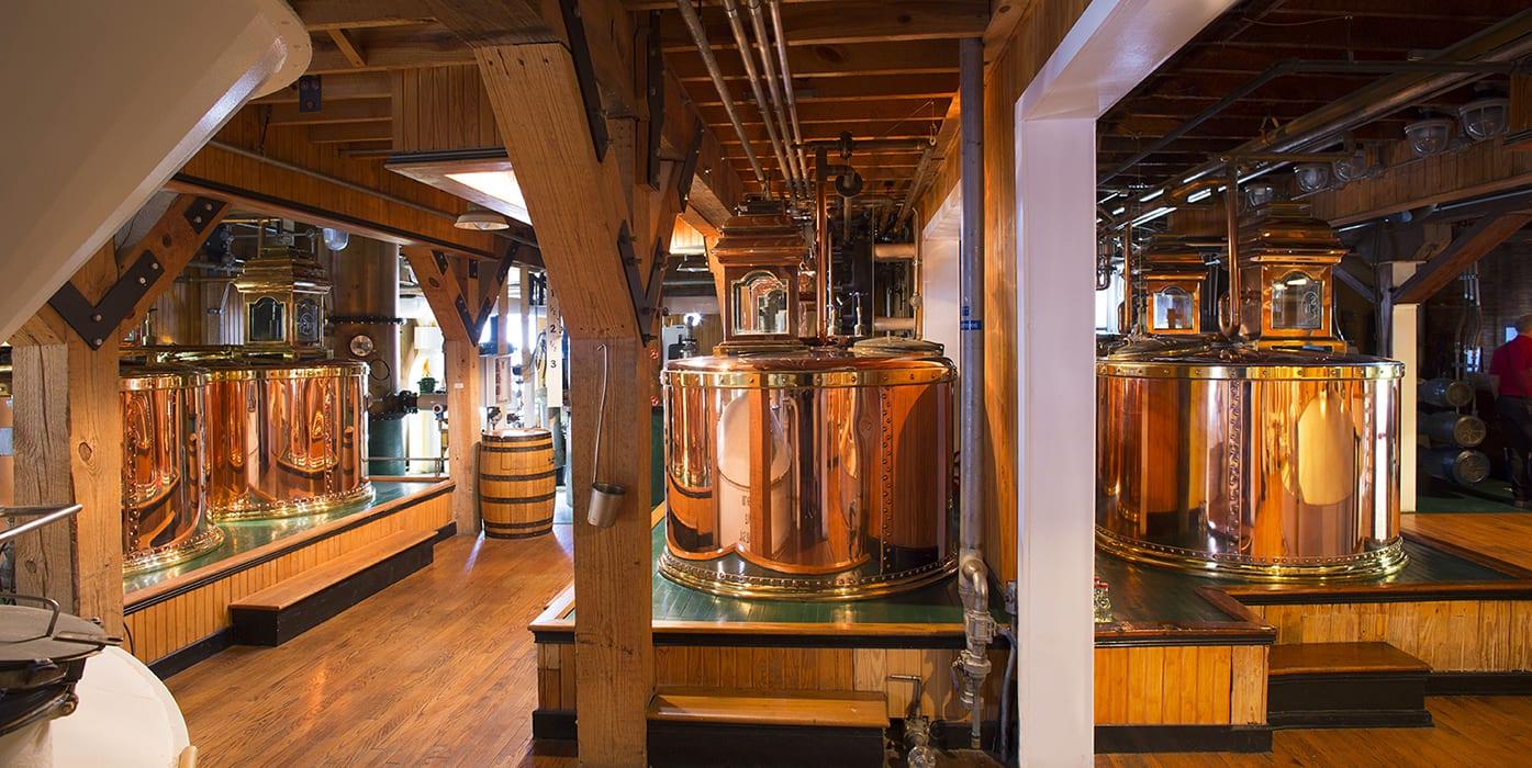 Inside the Maker's Mark stillhouse.