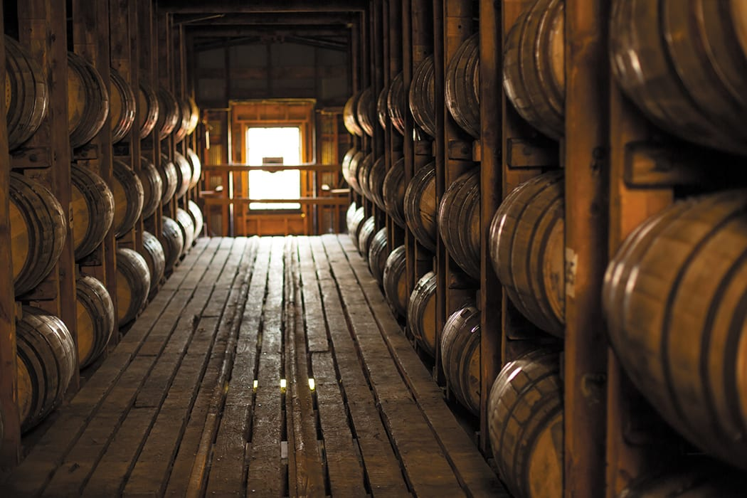 Inside the barrelhouse. | Photo by John Lair.