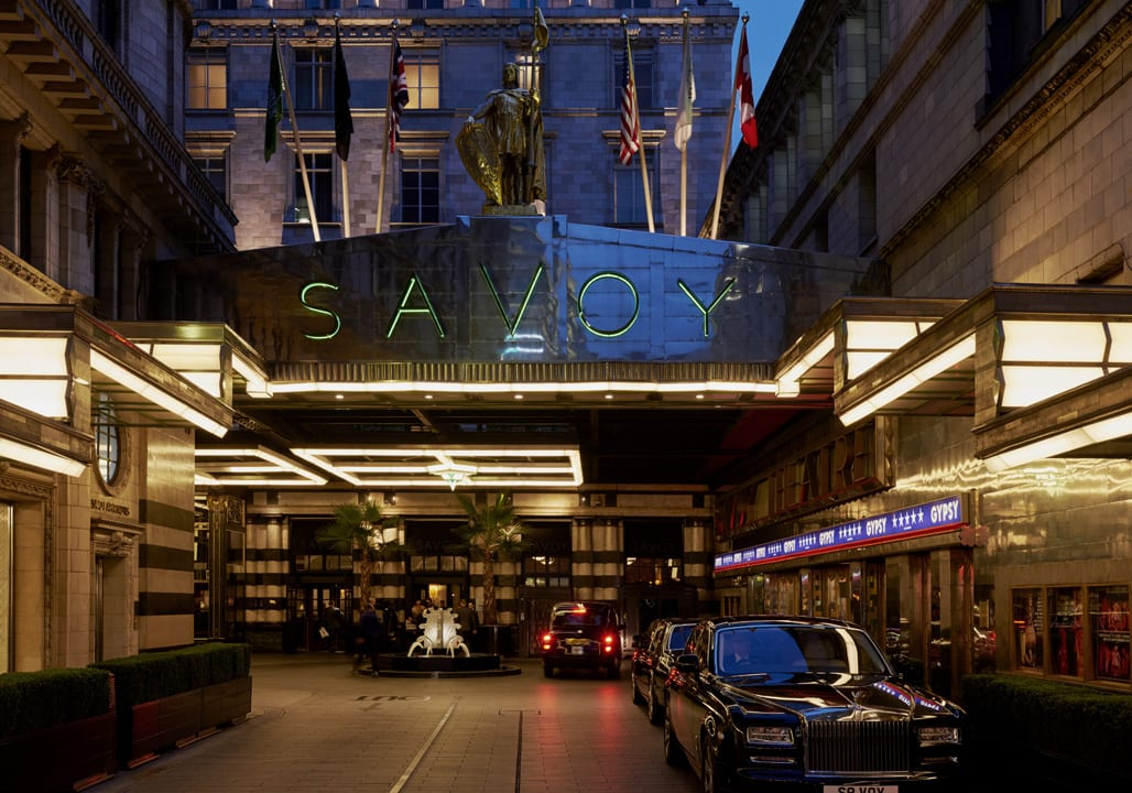 London's Savoy hotel is home to the storied American Bar. | Photo courtesy of the Savoy.